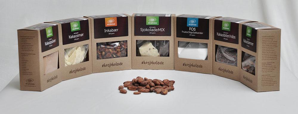 Økosjokolade / Pakningsdesign