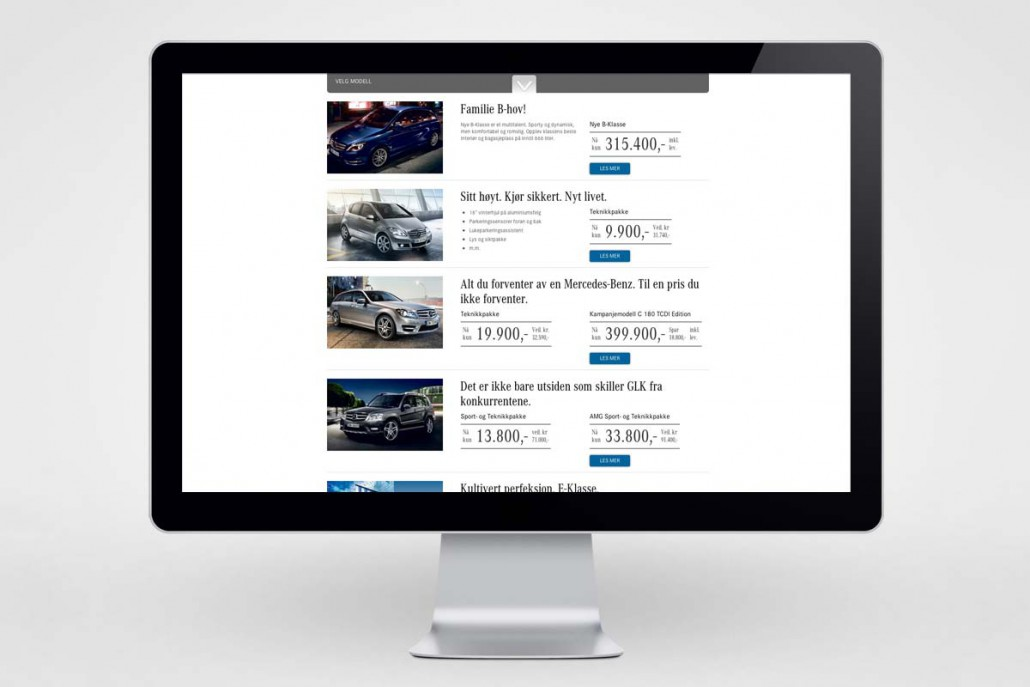Mercedes-Benz / Kampanjeside