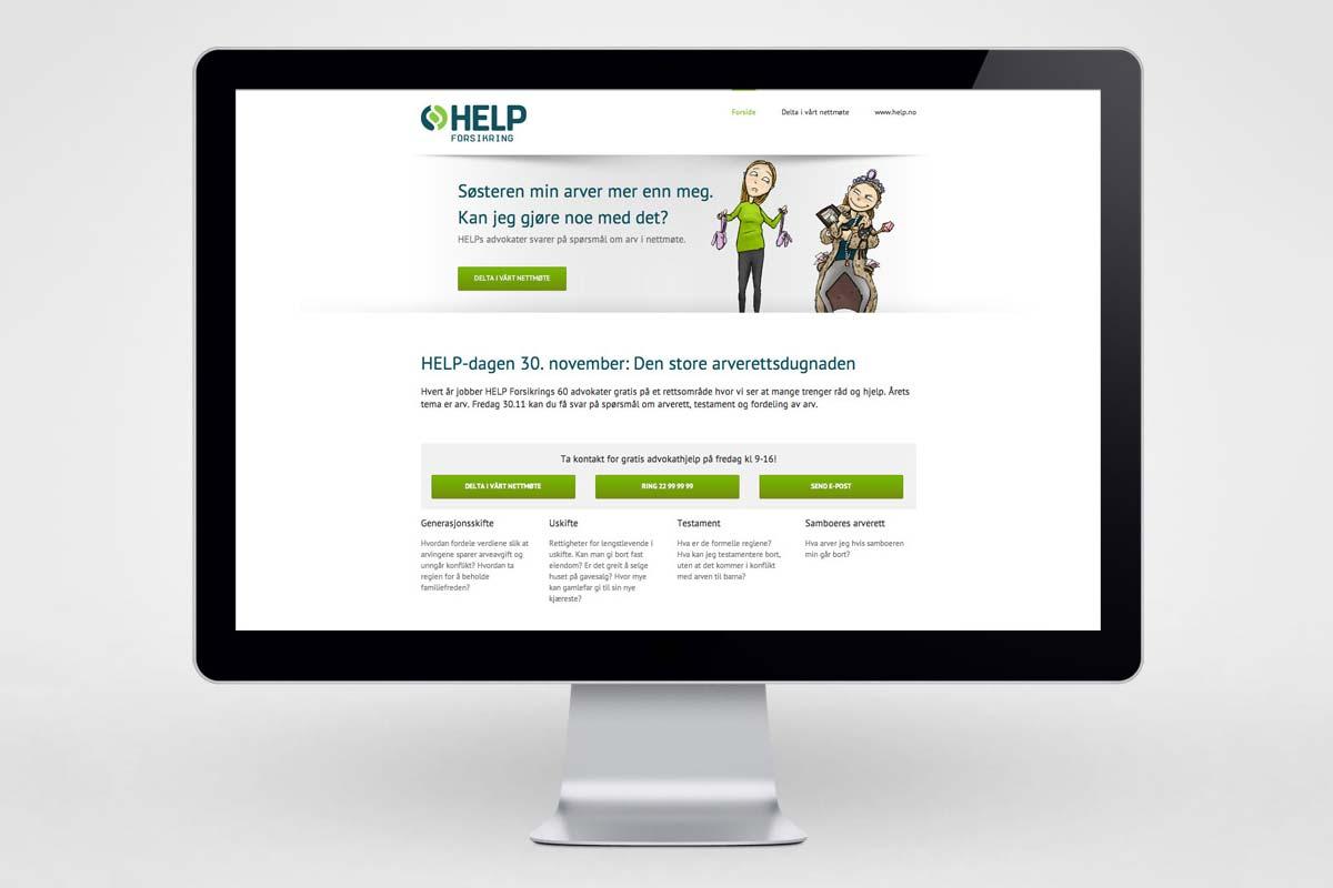 Help Forsikring / Kampanjeside