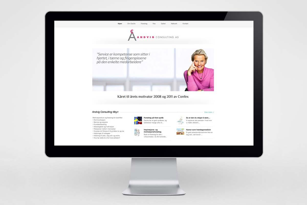 Andvig Consulting / Nettside - desktop