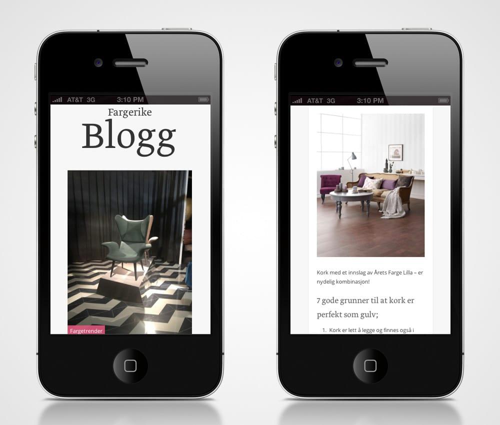Fargerike / Blogg - iphone