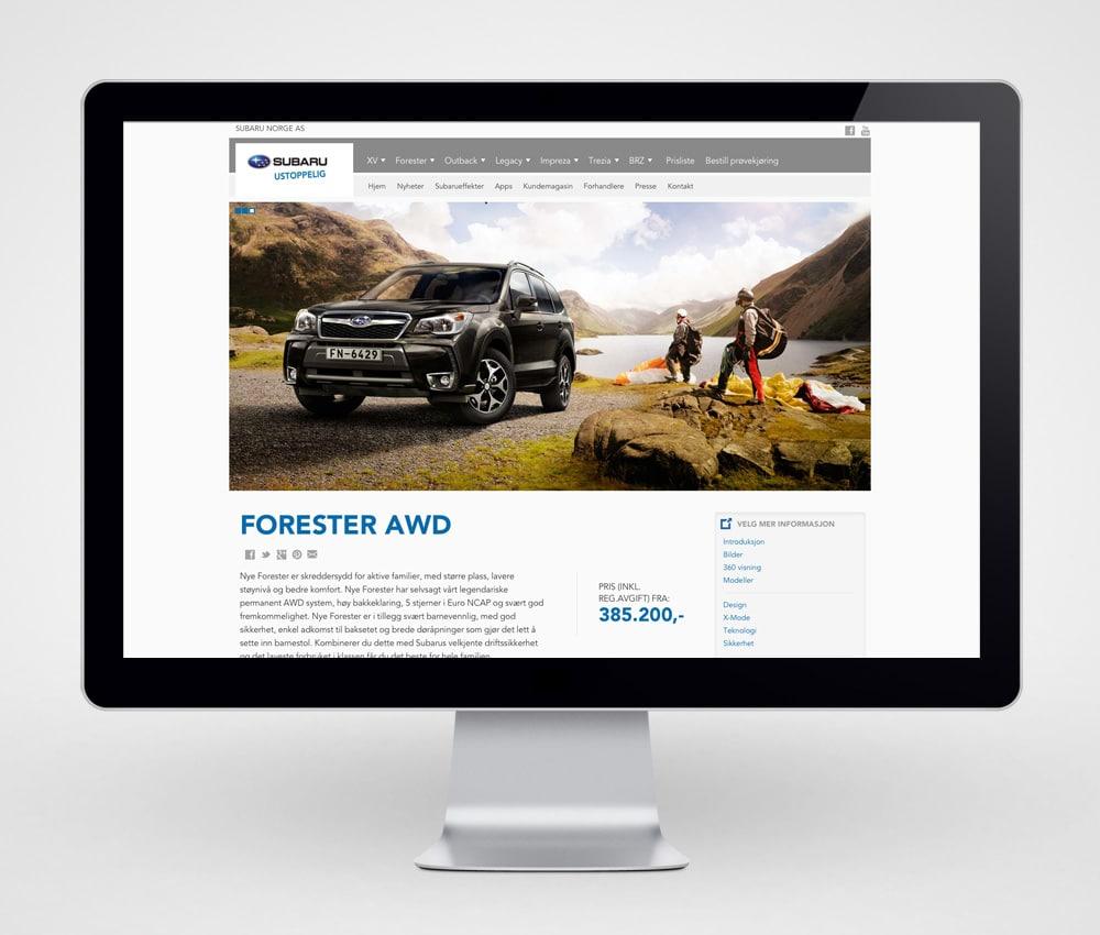 Subaru / Nettside - desktop