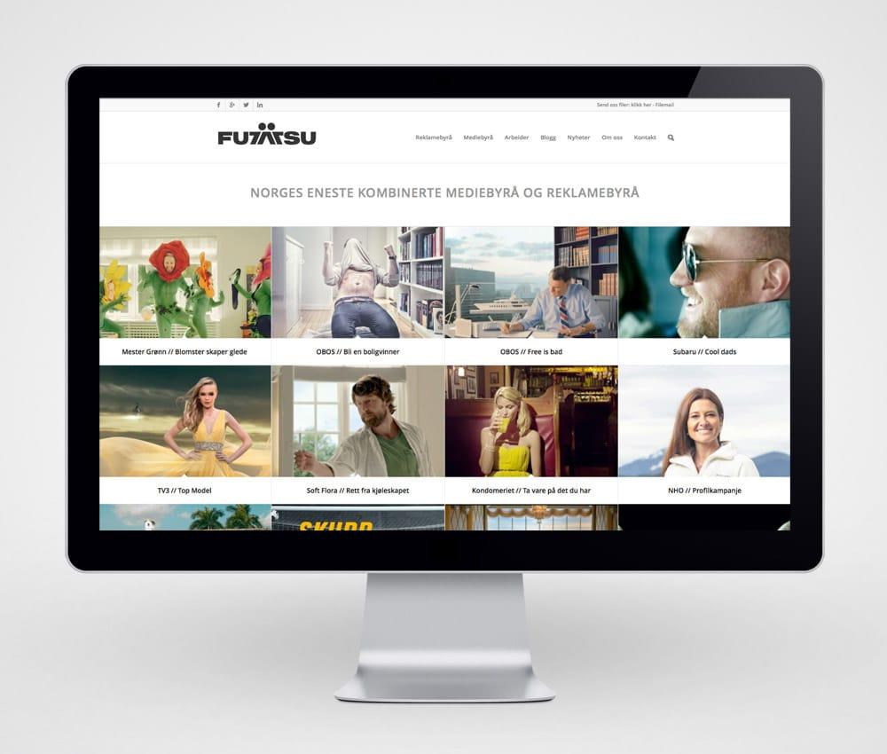 Futatsu / Redesign nettside - desktop