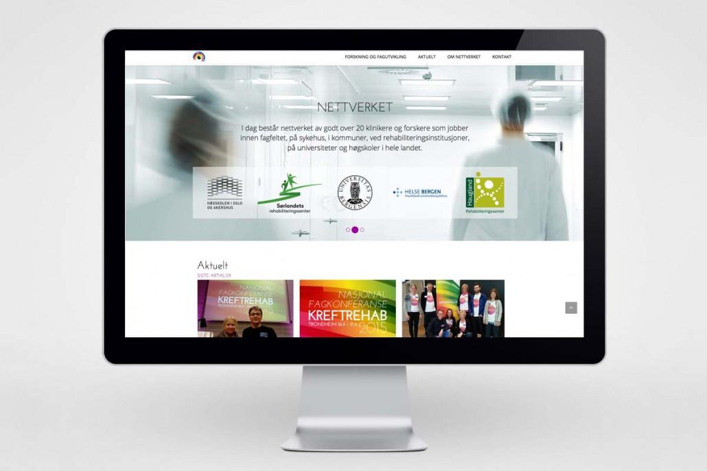 Kreftrehabilitering / Nettside - desktop