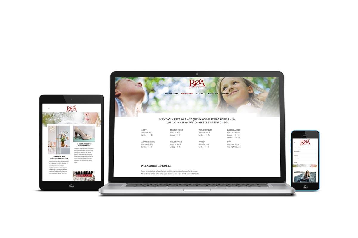 Røa Senter / Responsiv nettside