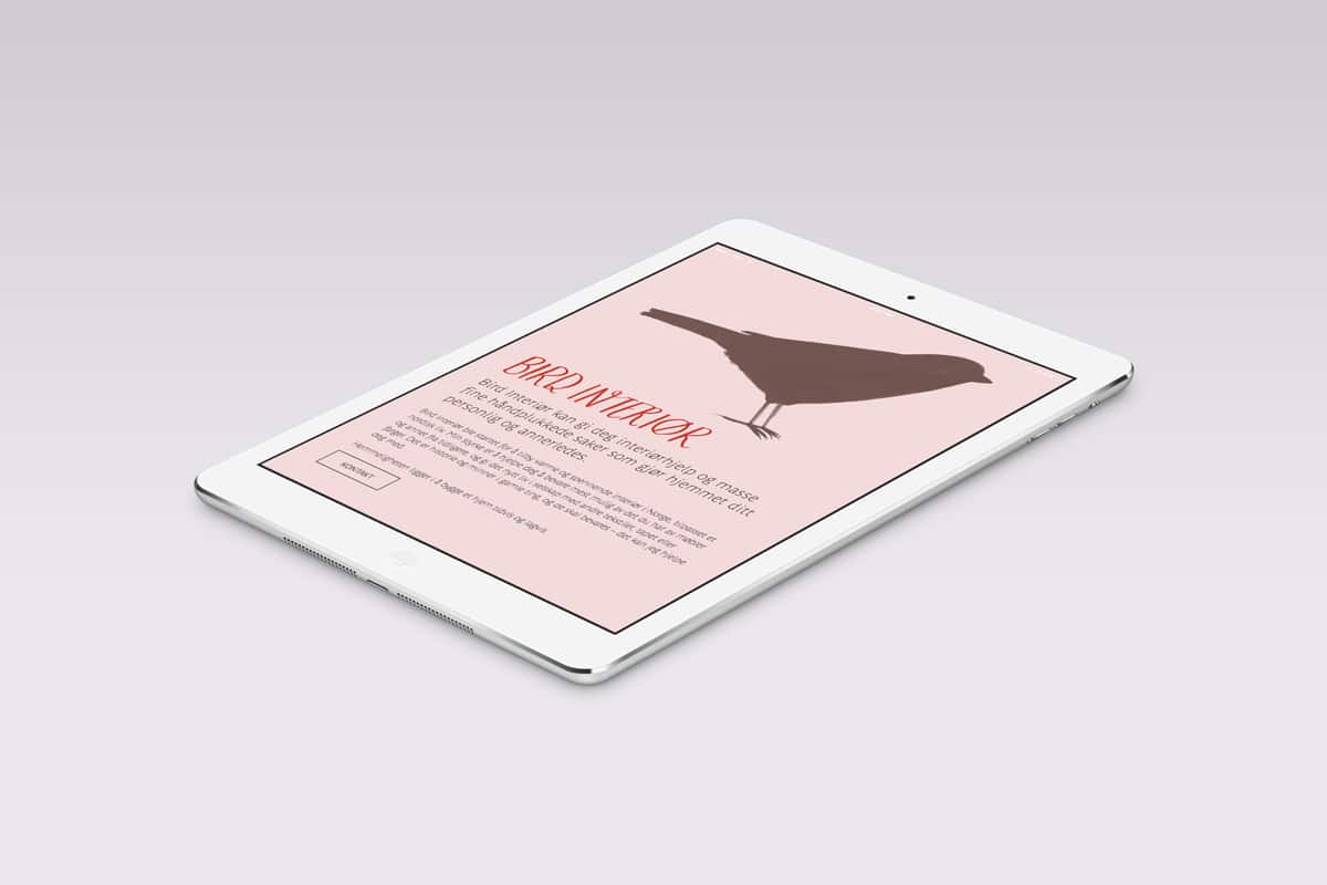 Bird Interiør nettside / Havdur Design