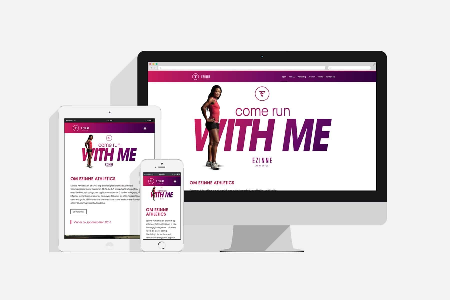 Ezinne Athletics / Redesign nettside