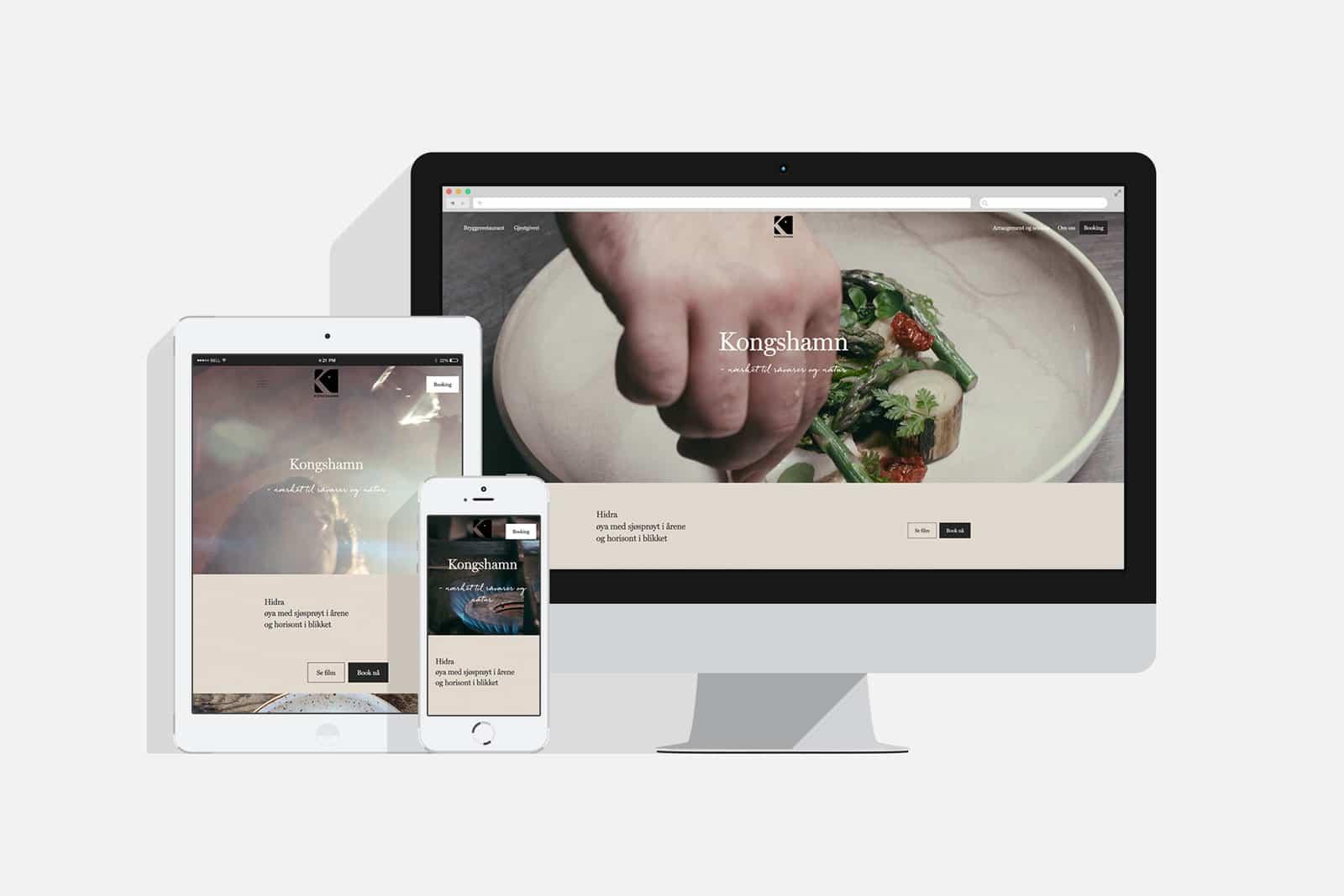 Kongshamn Bryggerestaurant / Nettside av Havdur Design