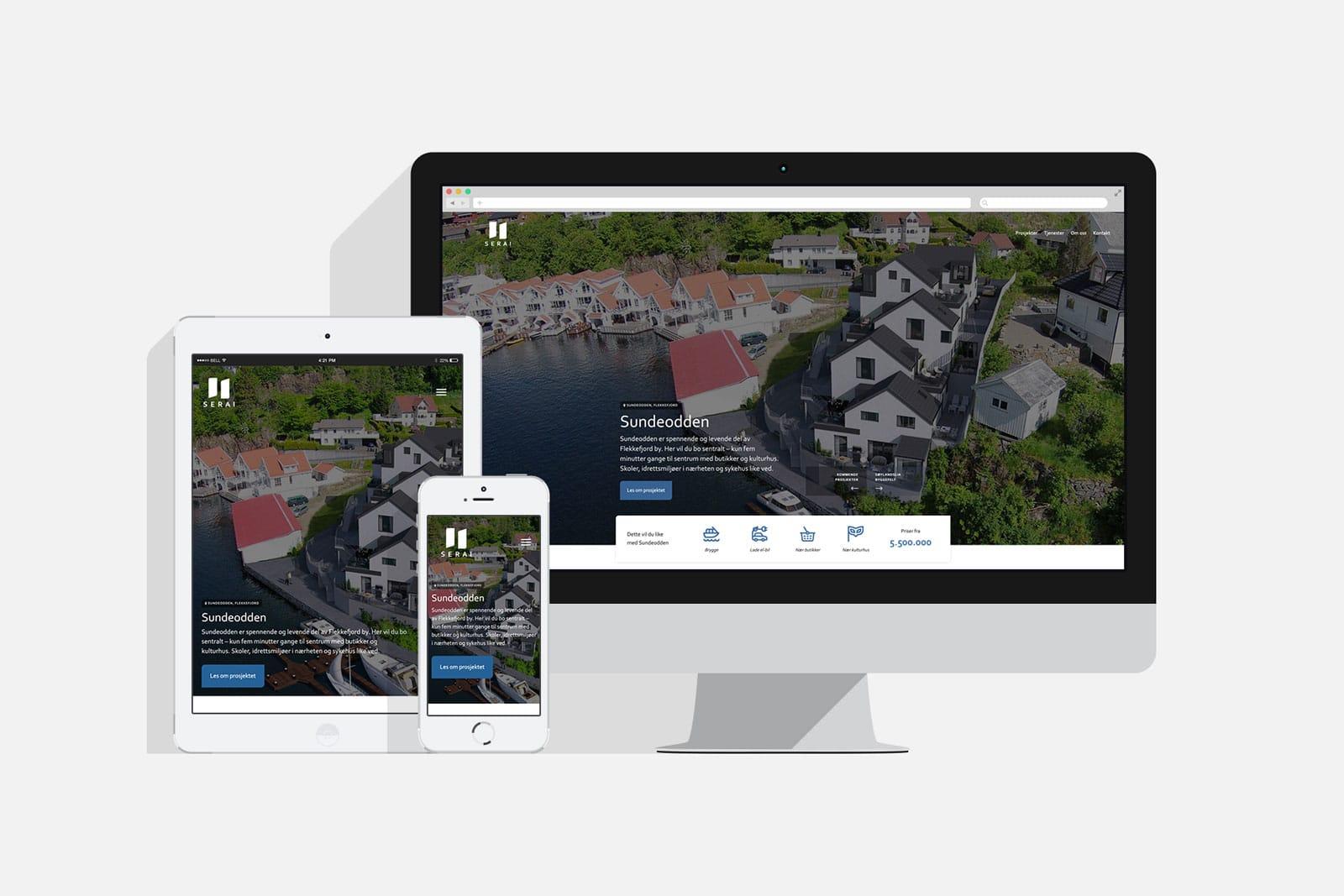 SERAI / Nettside av Havdur Design + BRKLYN